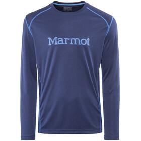 Marmot Windridge LS Shirt Men with Graphic Arctic Navy/French Blue